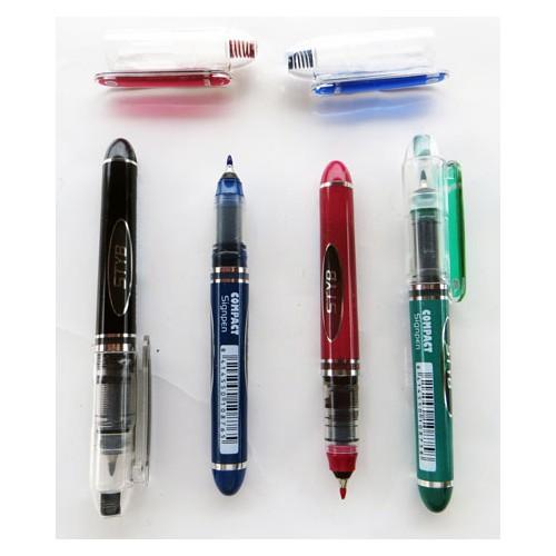 stylo compact pen  bleu